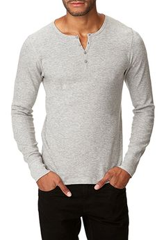 Basic Thermal Henley perfect for those days for staying home having a special someone over to watch movies with