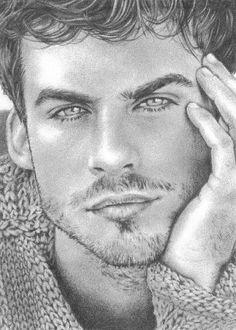 pencil drawing of Ian Sommerholder