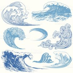 Wave Elements royalty-free stock vector art