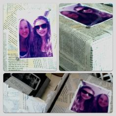 Made this timeless memory box out of old book pages and glitter for my best friend moving away. I filled it with pictures, charm bracelets an memories.