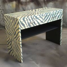Sydney Barton - Painted Furniture: Zebra Pattern Console