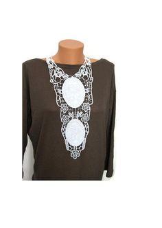 BIG DISCOUNT NECKLACE  Elliptical leather Lace by ArtofAccessory, $30.00