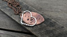Football Mom Football Personalized Necklace Rustic Silver and Copper