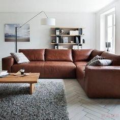 Wohnlandschaft von dieter knoll reines echtleder f r maximalen komfort sofas couches - Braunes ecksofa ...