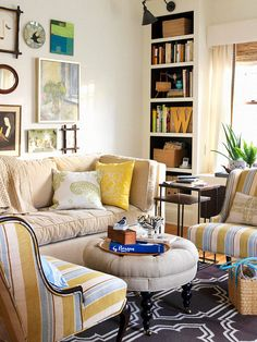 Smart Ideas for Small Spaces These rooms show you that small spaces can be super-efficient without sacrificing style.  Multitasking Decor Tiny rooms need to be deft multitaskers, so this living room features a long sofa that moonlights as a guest bed. And the ottoman gets a helping hand from a tray, allowing it to double as a coffee table.
