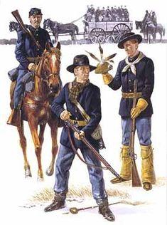 American Indian Wars, American Soldiers, American Civil War, American History, Military Art, Military History, Military Uniforms, Native American Models, Civil War Art