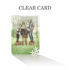 Forever Joyful - Clear Holiday Cards by Petite Alma for Tiny Prints in Winterberry Red