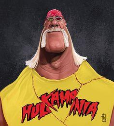 "Caricaturas de Famosos: ""Hulk Hogan"" por Alberto russo"