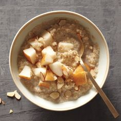 Cardamom Quinoa Porridge Recipe   Martha Stewart Cut the salt and didn't have sliced almonds. Pretty good and not too sweet. Very mild taste