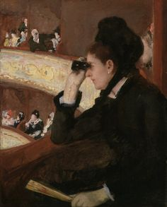 """Nel palco"", 1878 - Mary Cassatt"