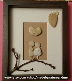 Arte de piedra única regalo de bebé nuevo por madebynatureandme