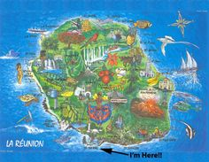 Shaan's - Work, Exchange, and Travels: Map of La Reunion Mauritius, Voyage Reunion, Island Cruises, Cruise Port, View Map, Africa Travel, East Africa, Beautiful Islands, Amazing Destinations