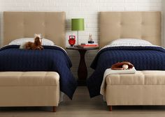 Matching twin beds for a shared room. children-s-rooms