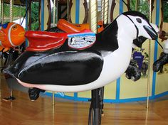 Penguin Carousel Animal at the Akron Zoo.