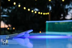 All of your guests will have a great time playing ping pong in the dark with our custom made LED ping pong table