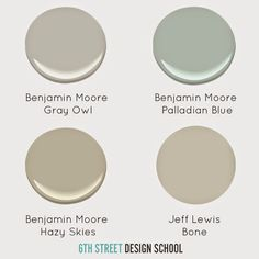6th Street Design School: Paint Colors I've Used and Loved