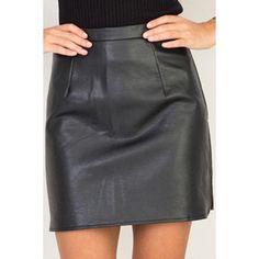 Yoins Black Sexy Leather Velvet Side Split Mini Skirt (28 AUD) ❤ liked on Polyvore featuring skirts, mini skirts, black, sexy mini skirts, short leather skirt, mini skirt, leather skirts and faux leather skirts