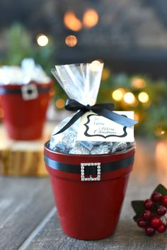 Santa Belt Candy Dish Gift for Neighbors and Friends gifts for employees christmas Elf & Santa Candy Pot Gift Idea