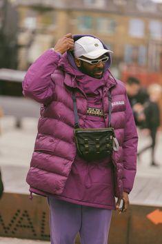 Street Style Shots: London Fashion Week Men's Day 2 Trendy Mens Fashion, London Fashion Week Mens, Urban Fashion, Fashion Images, Fashion News, Style Fashion, Men Street, Street Wear, Jersey Outfit