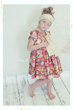 Bloomin Peter Pan Collar Girl Bow Dress Vintage Inspired Fleur + Dot