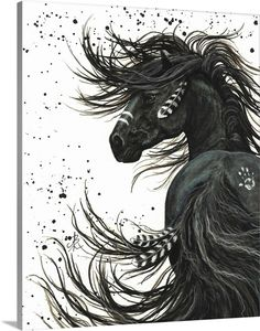 Fine Art Amerika, Horse Canvas Painting, Native American Horses, Horse Wall Art, Horse Face, Horse Drawings, Art Drawings, Majestic Horse, Thing 1
