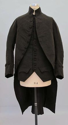 Suit mid-18th century Culture: British silk, linen