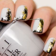 Nail Art - Experimenting with foil - http://www.mynailpolishonline.com/2015/12/nail-art-2/nail-art-experimenting-with-foil/