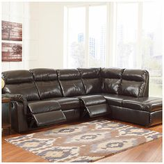 Signature Design by Ashley® Dream Bonded Leather Match 2-Piece Reclining Sectional at Big Lots.