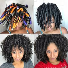 This has to be the quickest I've washed, deep conditioned, styled, and dried my hair.I told myself if stylist can do this in hours… Straw Set Natural Hair, Natural Hair Twists, Short Curly Hair, Curly Hair Styles, Natural Hair Styles, Straw Curls, Birthday Hairstyles, Flat Twist Updo, Hair Fair