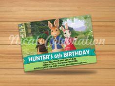 Peter Rabbit Design Invitation - Digital File