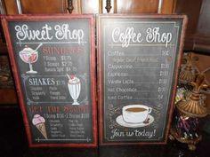 vintage menu signs   about XL Vintage Embosssed Distressed Cafe Diner Coffee Shop Menu ...