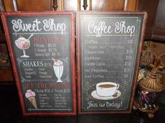 vintage menu signs | about XL Vintage Embosssed Distressed Cafe Diner Coffee Shop Menu ...