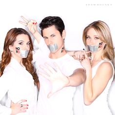 """Cast of MTV's """"Faking It"""" Shows Support for Equality   NOH8 Campaign"""