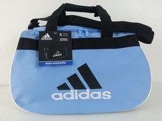 NWT ADIDAS Diablo Small Duffel Bag Sport Gym Travel Expandable Blue/Gray/Black #adidas #DuffleGymBag #ebay #adidas #DuffleGymBag