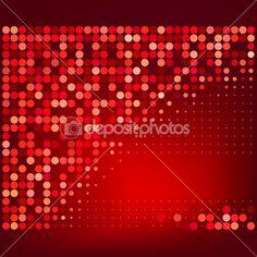 Абстрактных красный полутоновых точек векторного фона — Стоковая иллюстрация #11934079