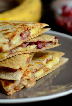 This sweet twist on a quesadilla has 14g of fiber and 16g of protein!