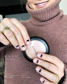 Light pink and black nails