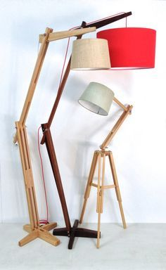 Floor lamp design Wooden floor lamps Lamp design Lamp Modern floor lamp design Wood floor lamp Classic retro timber floor lamp The reach by Lou Retro Floor Lamps, Diy Floor Lamp, Wooden Floor Lamps, Wooden Lamp, Wood Floor, Diy Luminaire, Lampe Decoration, Timber Flooring, Unique Lamps