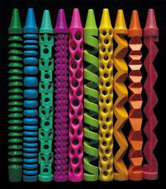 Couleurs de rêve, formes magiques, crayons fais-moi vibrer, créer, et vivre ! (Carved Crayons - Imgur)