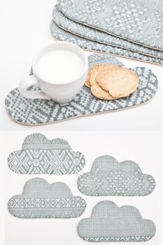 Cloud Coaster Tribal Drink Coaster Home Decor by JuliaWine on Etsy