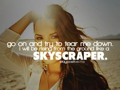 Coincidentally, I just went to concert last night. :) I love Demi Lovato. Love Me Quotes, Great Quotes, Quotes To Live By, Inspiring Quotes, Inspirational, Lyric Quotes, Words Quotes, Wise Words, Demi Lovato Quotes