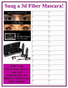 Snag a 3D fiberlash mascara! Join the raffle.