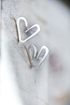 Silver Heart Post earings, so simple but that's why they are charming!