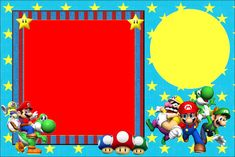 For Mario Bros Party Invitations, Cards, Backgrounds or Labels. Super Mario Bros, Mario Bros Y Luigi, Super Mario Birthday, Mario Birthday Party, Mario Bros., Birthday Party Invitations, Mario Cake, Mario Brothers, Mario Party