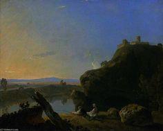 Vue sur la rivière, sur l Arno de Richard Wilson