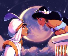 Jasmine cartoon | Aladdin And Jasmine free phone wallpaper download