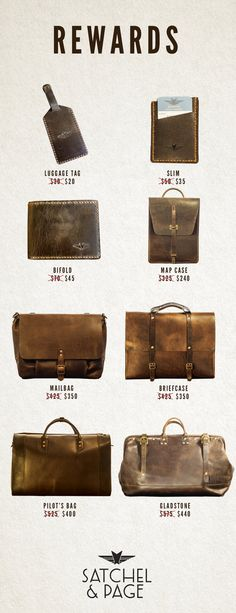 Satchel & Page - Leather Bags Guaranteed For Life - Heirloom quality, 1940s styled leather bags. Inspired by my Grandfather's Map Case from WWII. Guaranteed for life.