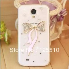 Aliexpress.com : Buy Free Shipping New Arrival 2013 Transparent Cute Bowknot Case For Samsung Galaxy S4 SIV i9500 Crystal Diamond Bling Phone Shell from Reliable case for samsung galaxy s4 bowknot suppliers on Skytech Global Technology INC. $4.99