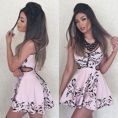 Vestidinho lindo @limone_modas, in love! E acessórios @giovanneistore