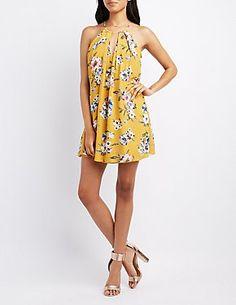 606f56844109a Bebop Floral Cold Shoulder Dress ($17) ❤ liked on Polyvore ...